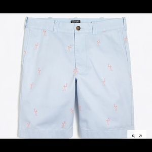 "J. Crew Factory Shorts - 9"" Gramercy flamingo printed chino short"